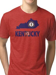 Kentucky Flag Map USA t-shirt Tri-blend T-Shirt