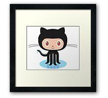Github Coding Stickers Framed Print
