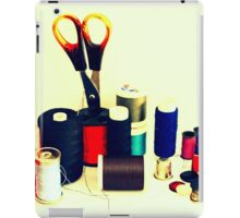 Buttons, Cotton Reels, Scissors And A Thimble iPad Case/Skin