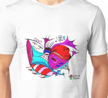 Pink and Blue Unisex T-Shirt
