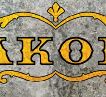 Jakobs Filigree (Without Text) Sticker