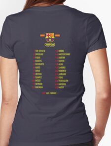 Barcelona players champions Womens Fitted T-Shirt