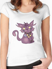 Kitty is For Feral: Version 1 Women's Fitted Scoop T-Shirt