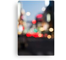 Abstract blurred city scenery art photo print Canvas Print