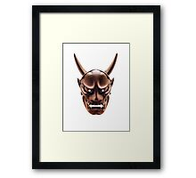 Hannya Japanese demon wooden mask art photo print Framed Print