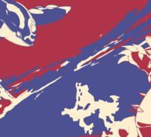 Pokemon Groundon vs Kyogre Sticker