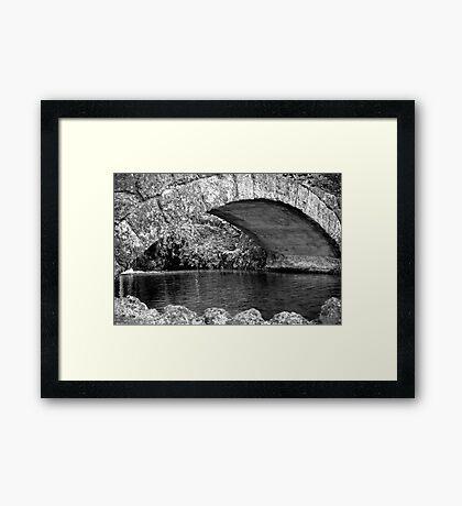 Stone Bridge in Napier Botanical Gardens Framed Print