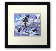 Luk on Ice Framed Print
