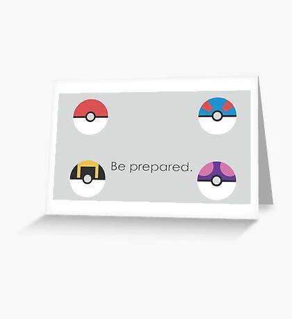 Pokemon Balls Greeting Card