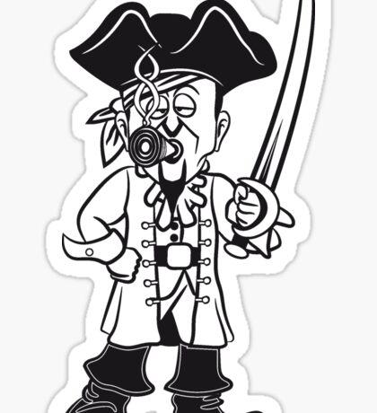 Pirat cool dreispitz degen joint kiffen  Sticker