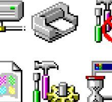Windows XP icons Sticker