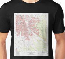 USGS TOPO Map Arizona AZ Tucson East 313824 1983 24000 Unisex T-Shirt