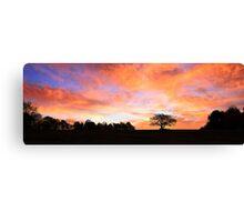 Daybreak - A Sky on Fire Canvas Print