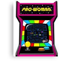 Pac Woman Canvas Print