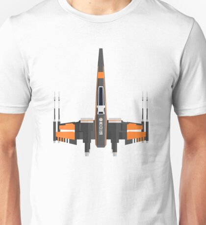 Black-Orange X-Wing Unisex T-Shirt