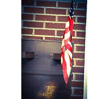 Canonsburg, PA: Flag on an Oil Barrel Photographic Print