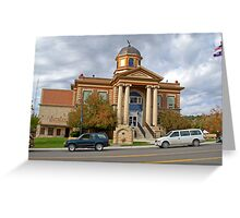 Weston Court House, Newcastle, Wyoming, USA Greeting Card