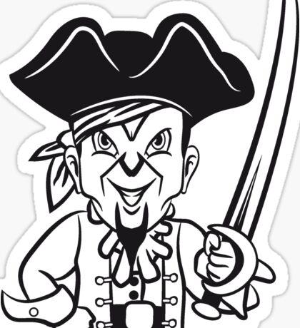 Pirat cool dreispitz degen böse  Sticker