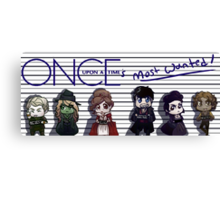 Once Upon A Time's Most Wanted Canvas Print