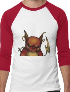 pokemon custom riachu awesome Men's Baseball ¾ T-Shirt