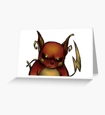 pokemon custom riachu awesome Greeting Card