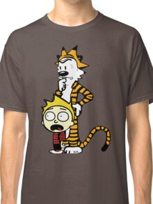 Rick and Morty, Calvin and Hobbes, Mashup Classic T-Shirt