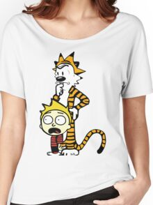 Rick and Morty, Calvin and Hobbes, Mashup Women's Relaxed Fit T-Shirt