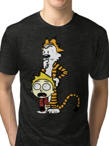 Rick and Morty, Calvin and Hobbes, Mashup Tri-blend T-Shirt