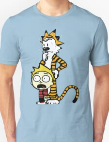 Rick and Morty, Calvin and Hobbes, Mashup Unisex T-Shirt