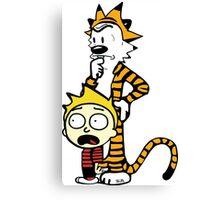Rick and Morty, Calvin and Hobbes, Mashup Canvas Print