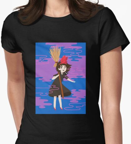 your friendly delivery witch Womens Fitted T-Shirt