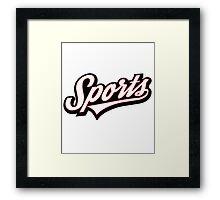 Funny SPORTS! Logo Framed Print
