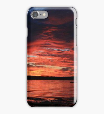 Sunrise at the shore iPhone Case/Skin