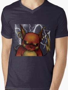 pokemon custom riachu awesome 2 Mens V-Neck T-Shirt