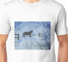 Horse in the Snow Unisex T-Shirt