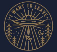 I want to leave - Pocket One Piece - Long Sleeve