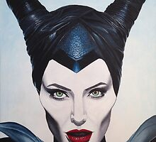 """Maleficent"" acrylic painting  by Ed Urena"