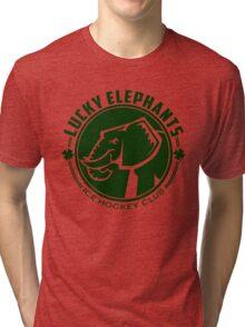 Lucky Elephants Round Crest Tri-blend T-Shirt