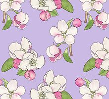 Apple Blossom Pattern by UrsulaRodgers