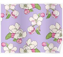 Apple Blossom Pattern Poster
