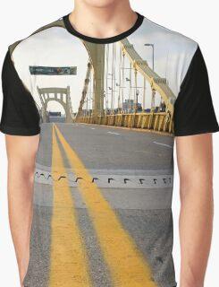 Pittsburgh, PA: Clemente Bridge Graphic T-Shirt