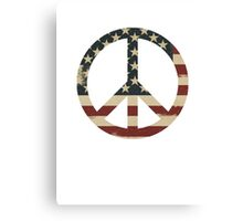 Peace Sign - US Flag Canvas Print
