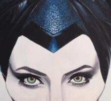 """Maleficent"" acrylic painting  Sticker"