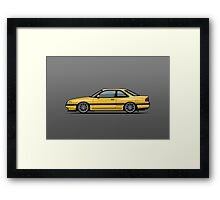Mazda MX6 GT Yellow Framed Print