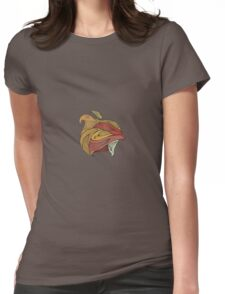 Flame Womens Fitted T-Shirt