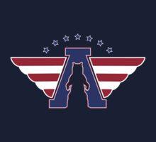 American Flag - Bear logo by BearYourArt