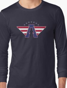 American Flag - Bear logo Long Sleeve T-Shirt