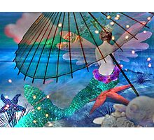 Mermaids Umbrella I Photographic Print