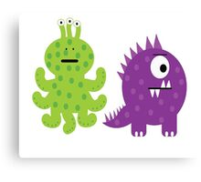 Complementary Monsters! Canvas Print