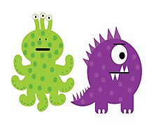 Complementary Monsters! Photographic Print